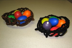 Nests with Egg Shakers