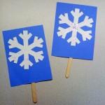 snowflake popsticks