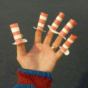Cat in the Hat Finger Puppets