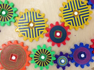 colorful toy gears
