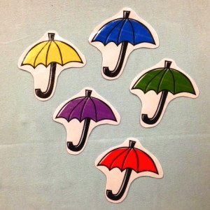 Photo of 5 Umbrellas Clip Art