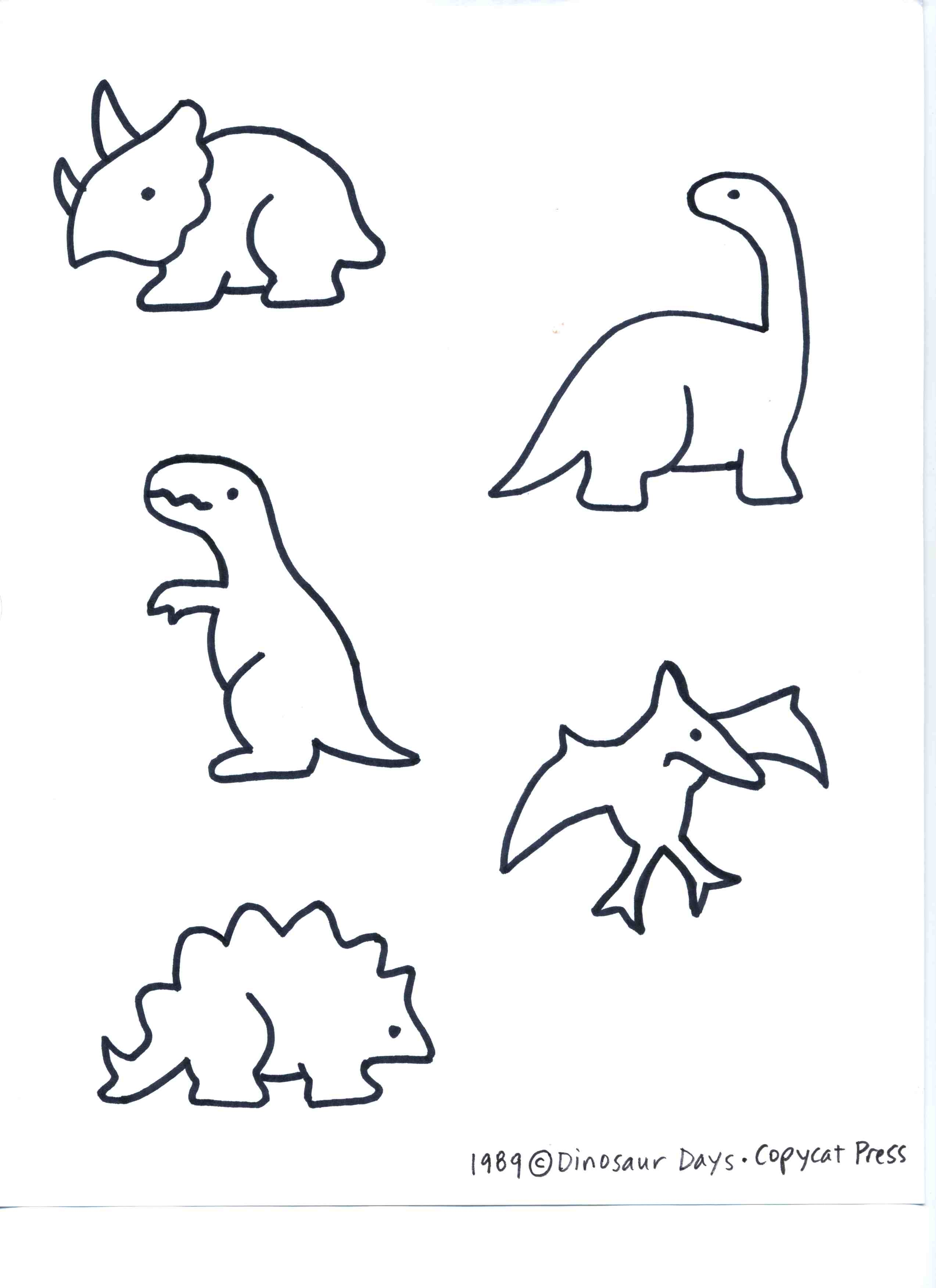 Dinosaur and volcano day preschool camp eclectic lamb for Dinosaur templates to print